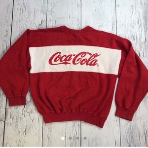 Vintage Coca Cola spellout sweater large